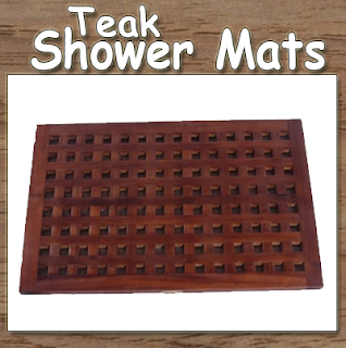 Teak Shower Mat, Teak Bathroom Accessories, Teak Shower Mats, Round Corner Teak Shower Mats, Square Teak Shower Mats,