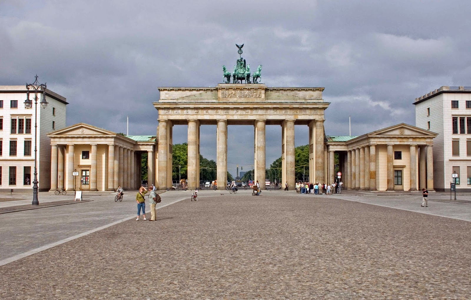 La Puerta de Branderburgo en Berlín, Alemania