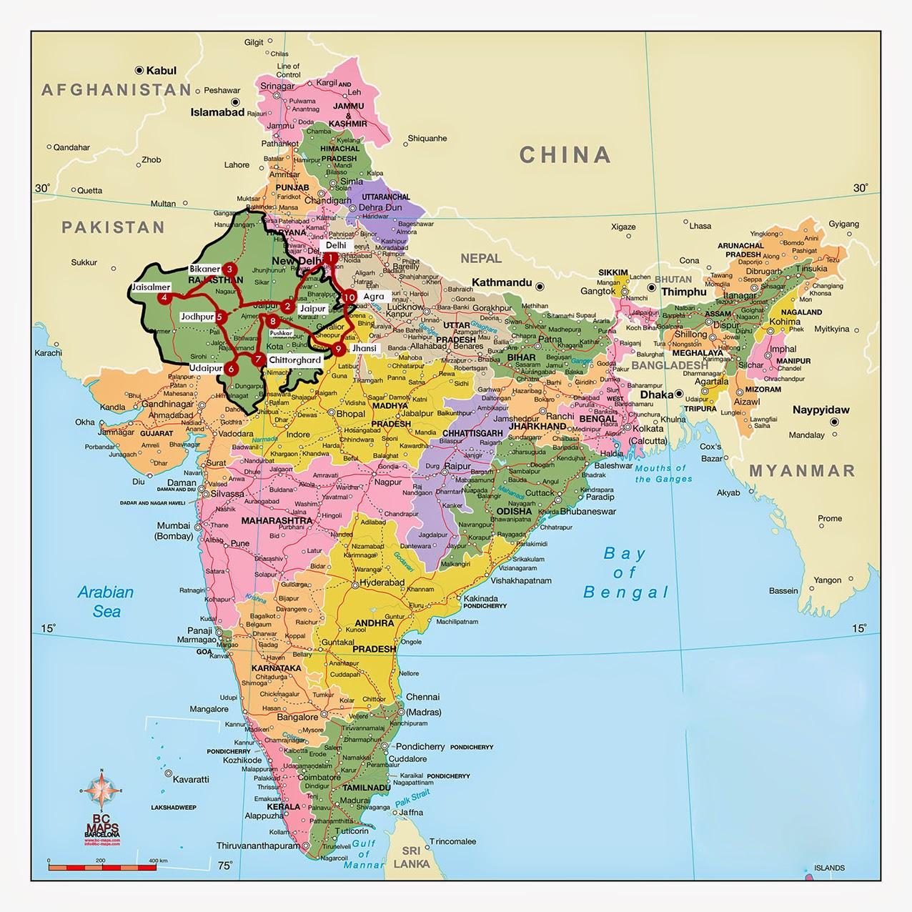 Ruta por el Rajasthan