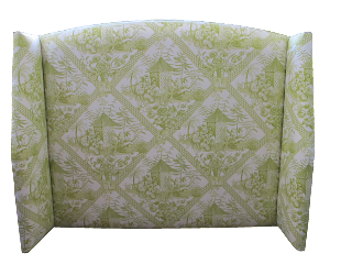 The wings block out any breeze when you are sleeping with is important for your health. It is a very comfortable upholstere headboard design.