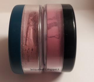 Blush Neve Cosmetics: a sinistra Boudoir, a destra Bubblegum