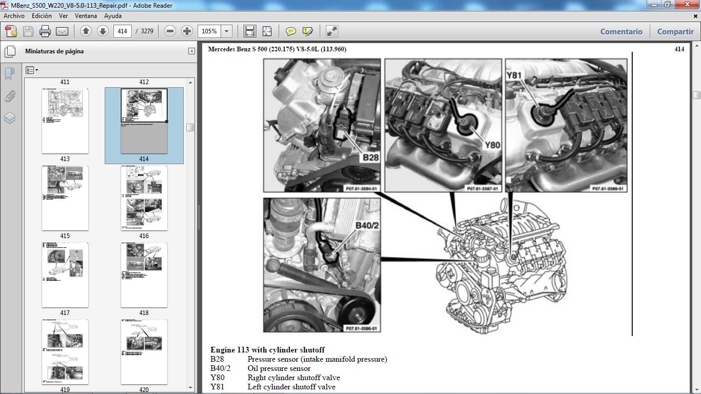 Manuales De Taller De Mercedes Benz  Mercedes Benz S500