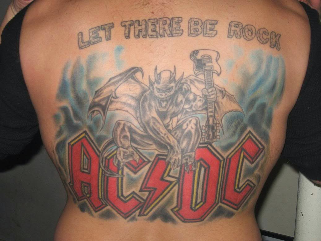 gallery for ac dc tattoos