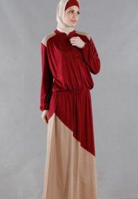 Manet Gamis - 3140 Marun (Toko Jilbab dan Busana Muslimah Terbaru)