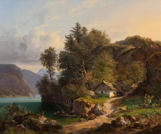 Ван хаанен 1807–1879 австрийский пейзаж