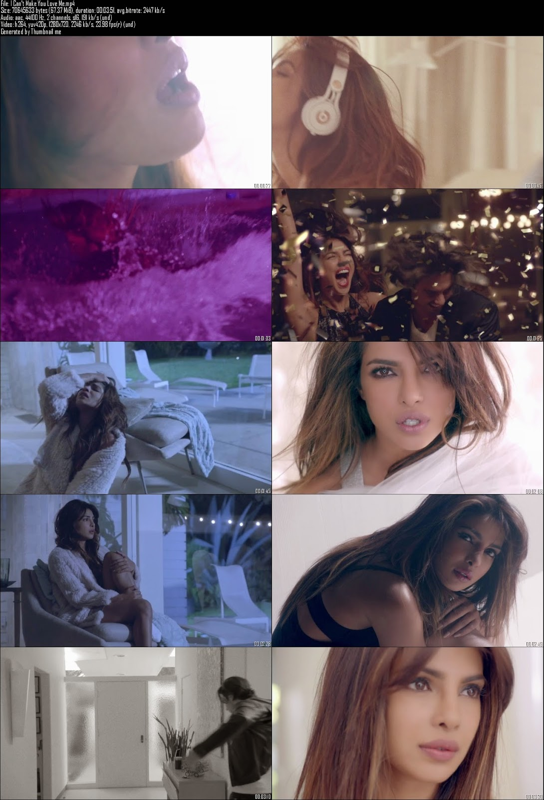Mediafire Resumable Download Link For Video Song I Can't Make You Love Me - Priyanka Chopra (2014)