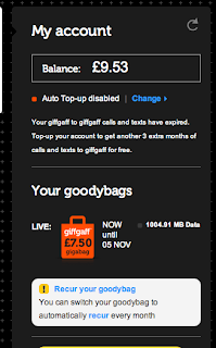 giffgaff 1GB data allowance