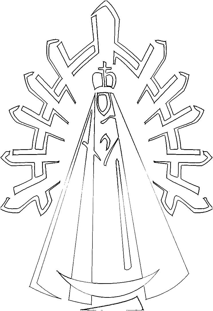 Imagenes De La Virgen De Guadalupe Para Colorear