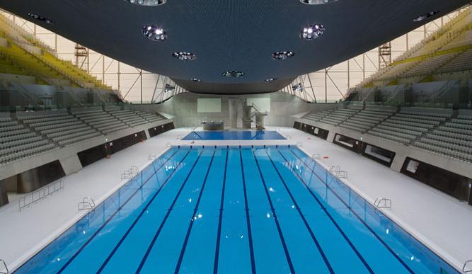 la medida de la piscina olimpica: