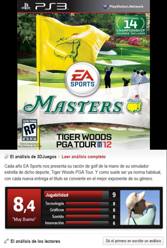 Tiger Woods PGA Tour 12 -PS3-