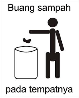 buang sampah pada tempatnya