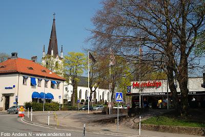 Mark, Marks kommun, kyrka, kyrkan, Kinna kyrka, Kinna, Hemköp, affär, centrum