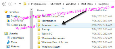 Computer Tips: Remove Programs and All Apps Screen in   Windows 8