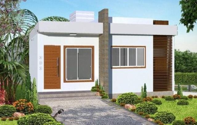 Plano de casa de 70 m2 planos de casas gratis y for Casa minimalista 2 dormitorios