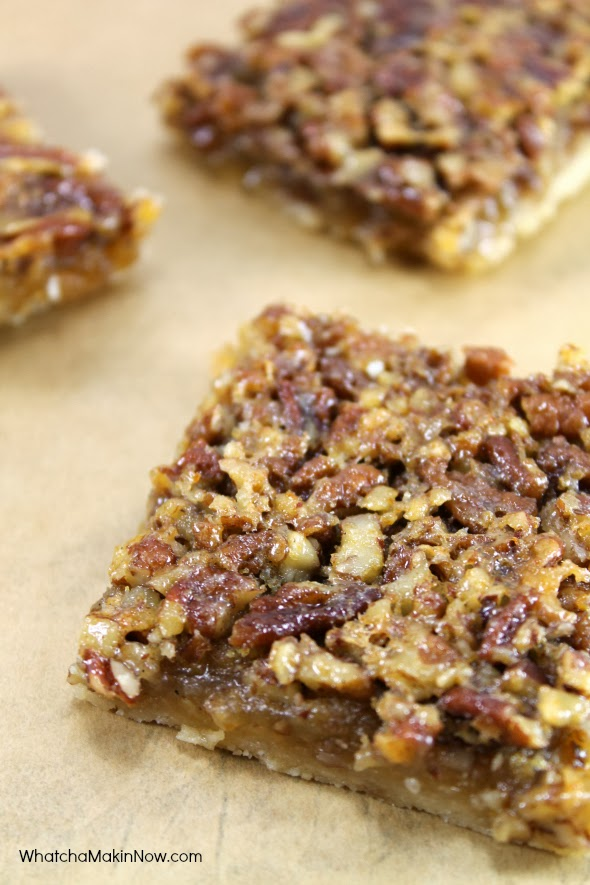 Pecan Pie Bars -- so much better, and easier, than making a pie!