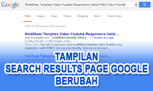 Tampilan Search Results Page Google Berubah