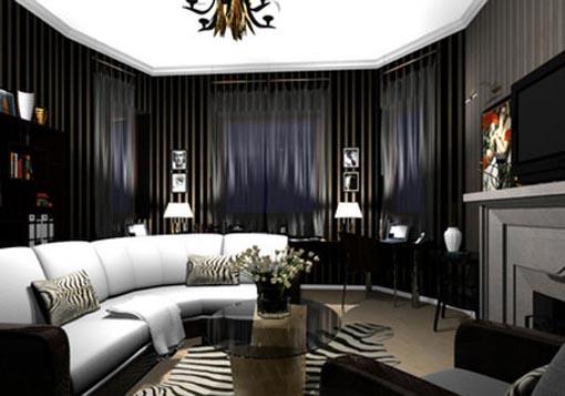 Sala de Estar Gothic-living-room