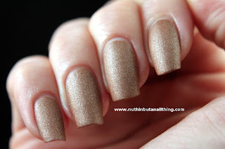 w7 golden suede effects nail polish