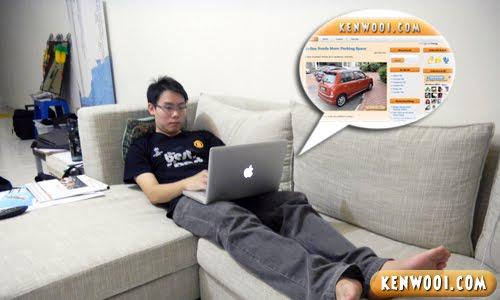 internet on sofa