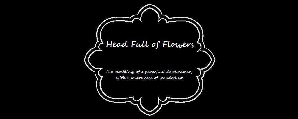 head full of flowers