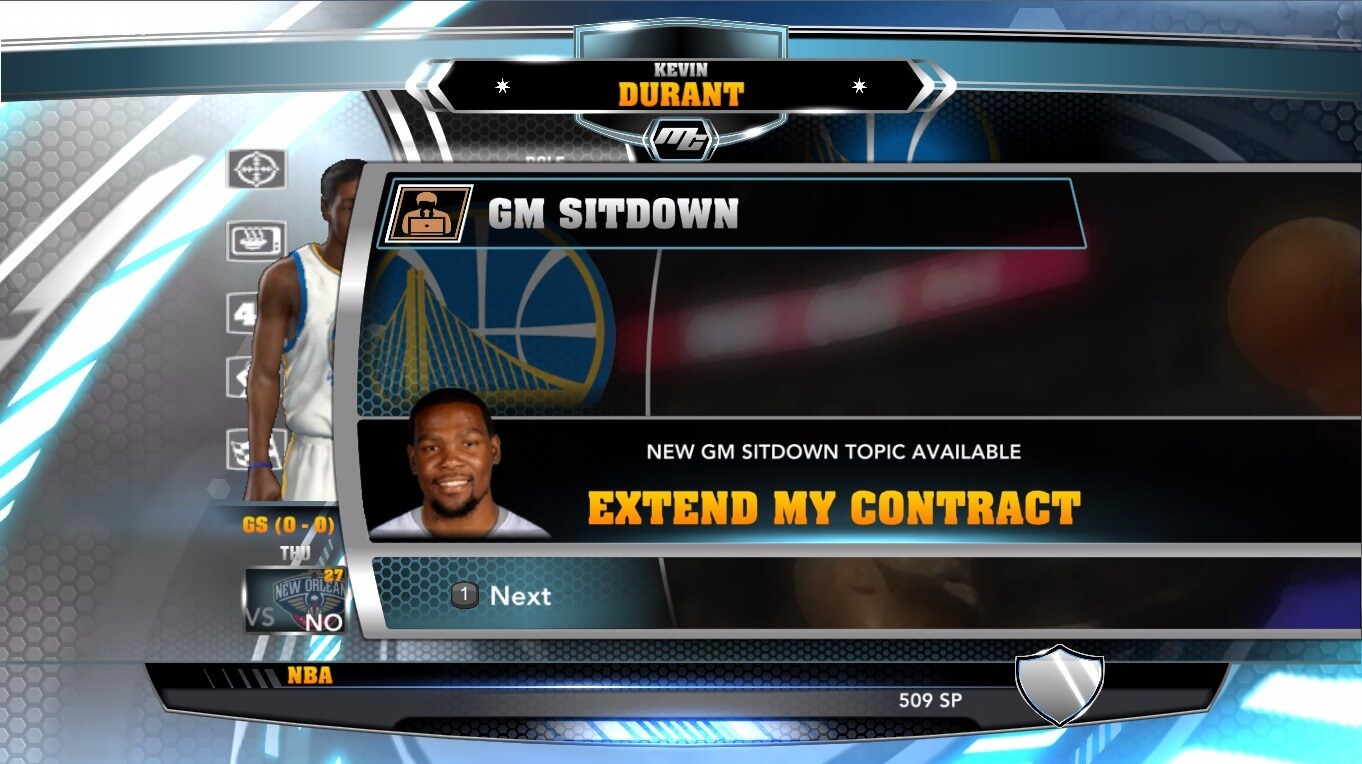 NBA 2k14 MyCareer Mod : Kevin Durant (Warriors) - hoopsvilla