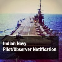 Indian Navy Pilot/Observer June 2014 Notification