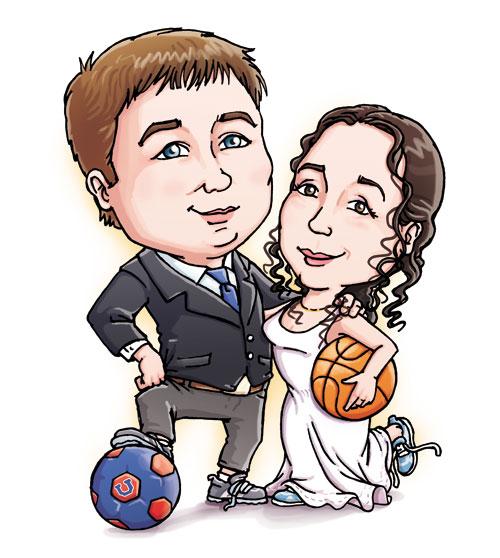 Caricaturas pareja novios - Imagui