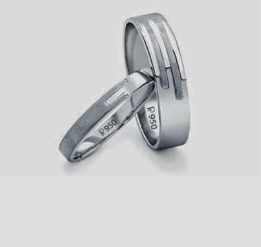 Platinum Love Bands below Rs. 20000 Design Code : SJ PTO 234