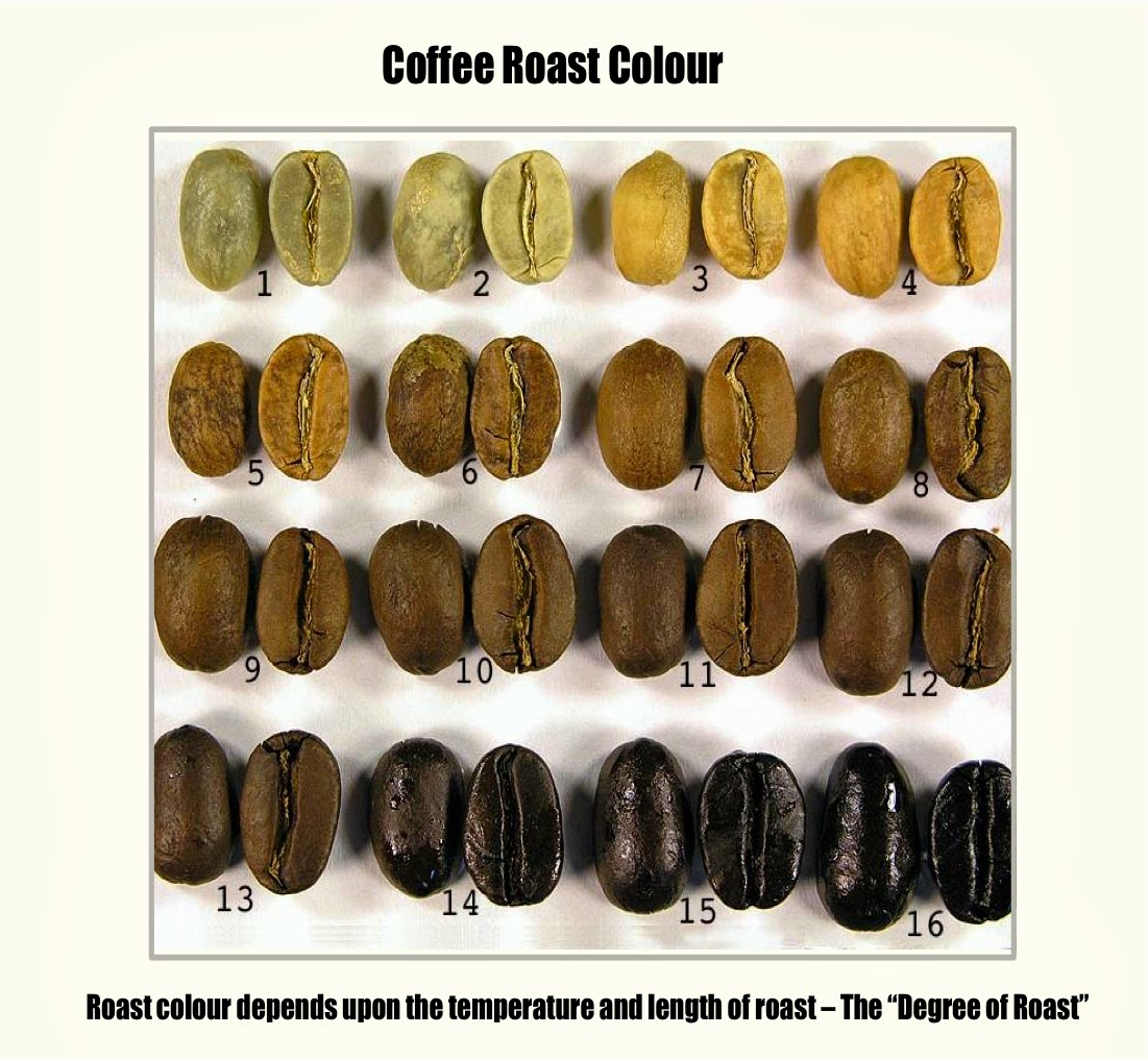 coffee roast colours How To Roast Coffee Beans Commercially