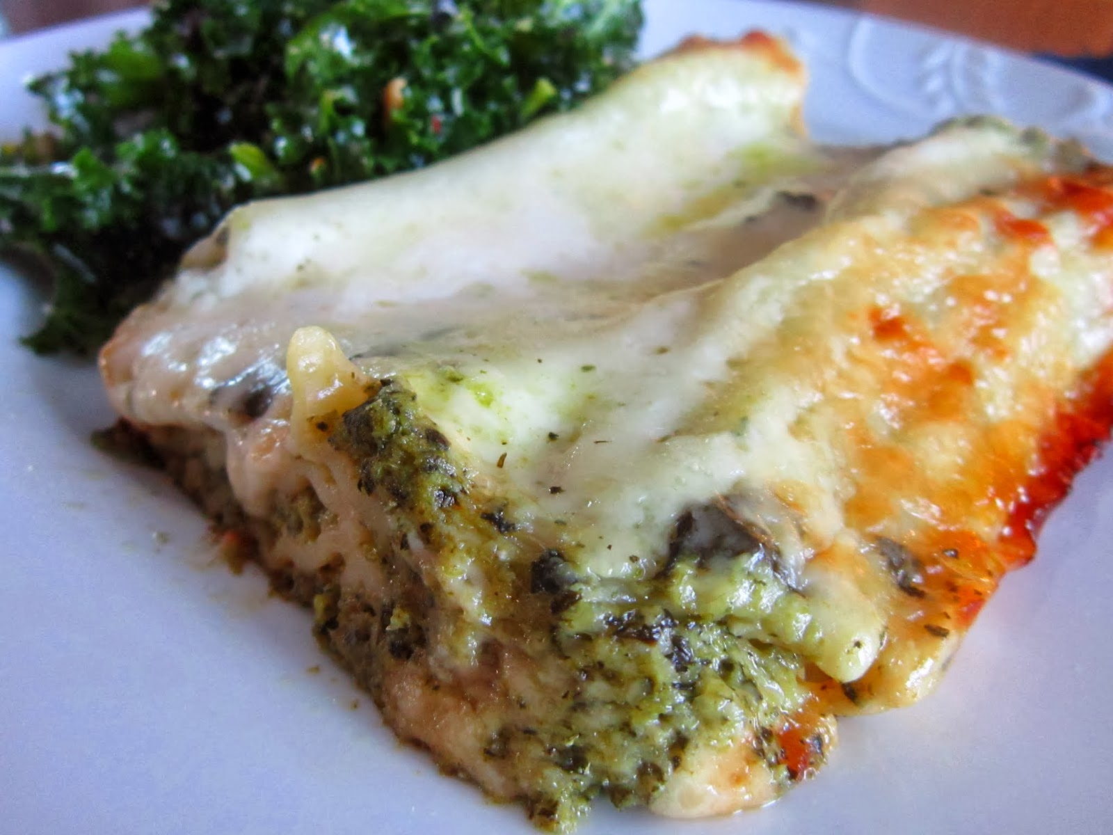 The Italian Next Door: Swiss Chard and Sweet Pea Manicotti