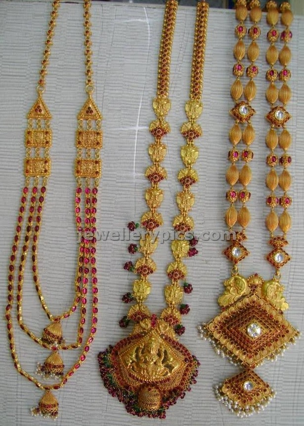varakrupa jewellers gold haram antique design