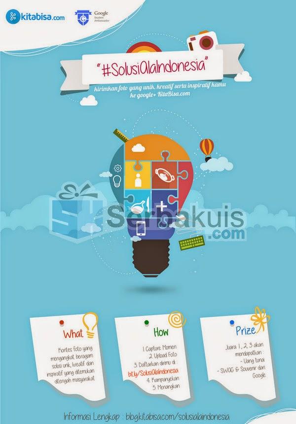 Lomba Foto Solusi Indonesia Berhadiah Uang + Souvenir Google