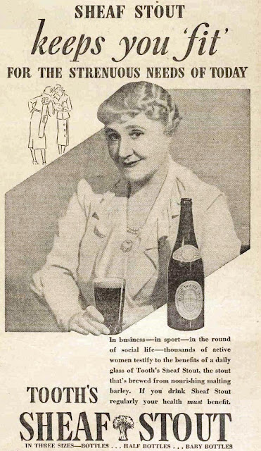 vintage 30s ad about drinking stout