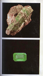 Crystal of emerald beryl
