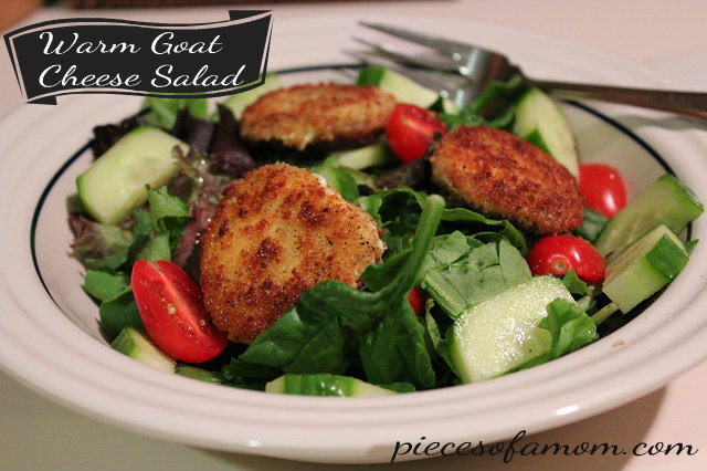 Warm Goat Cheese Salad Pieces Of A Mom