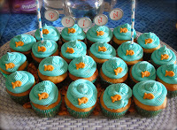 Goldfish cupcakes