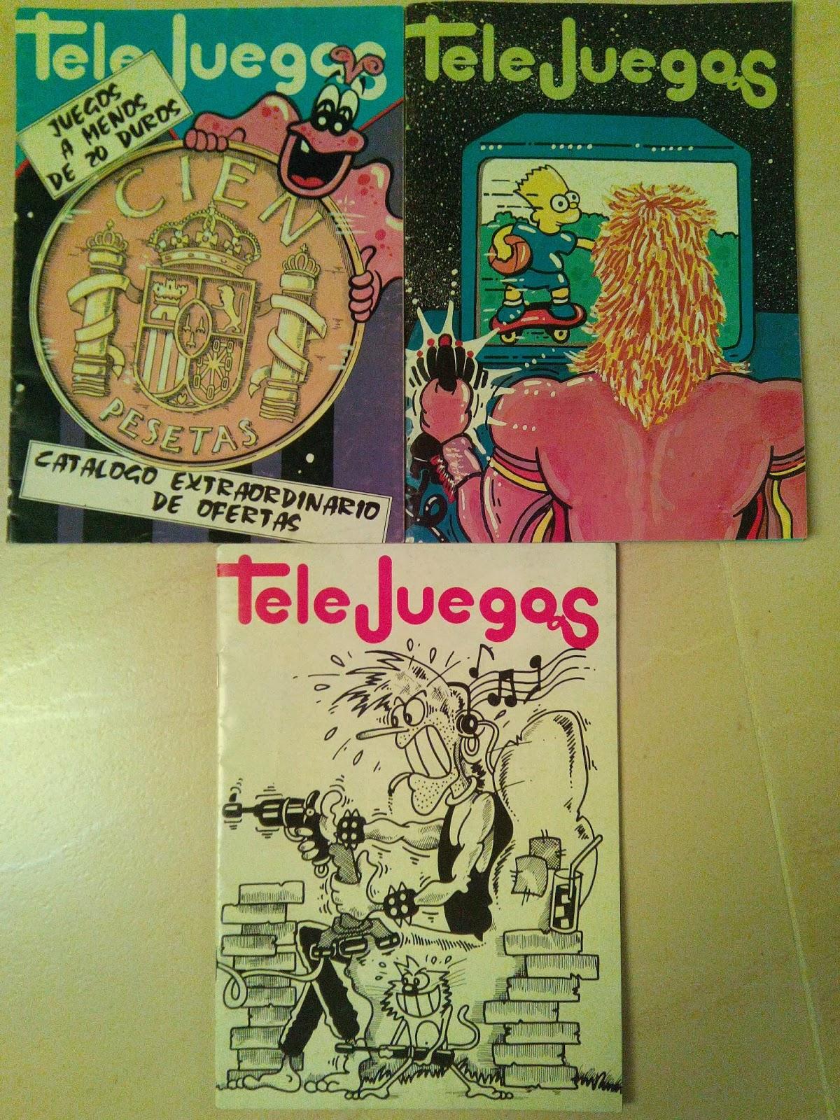 Portadas de algunos catálogos de Telejuegos