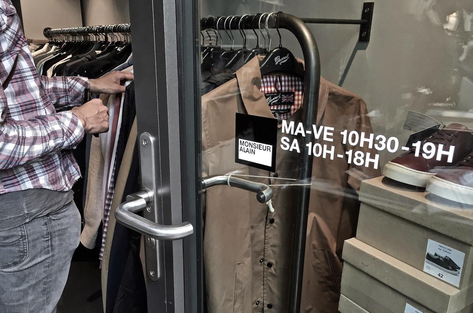 Monsieur Alain tienda chula ropa hombre Lausanne hipster