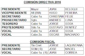 Comisión Directiva 2016 del Club