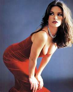 zeta jones bending photo breast exposed