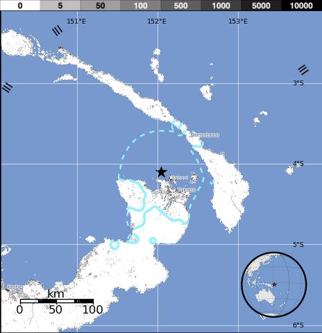 TERREMOTO DE 6,3 GRADOS REGISTRADO EN EL ESTE DE PAPUA NUEVA GUINEA
