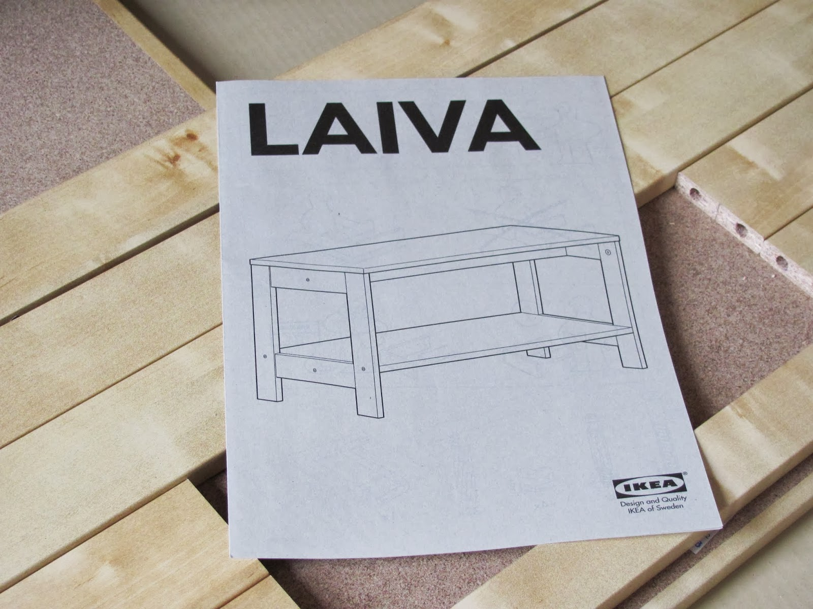 Instructions for LAIVA TV stand from IKEA Dublin, Ireland