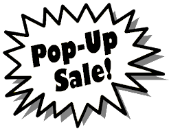 POP-UP SALE!! 25% OFF 2nd FLOOR - FRI 7/3 & SUN 7/5!!