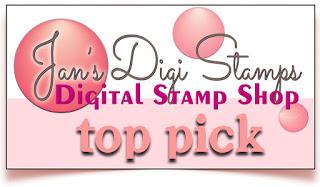 2 x Jan's Digi Stamps Top Pick
