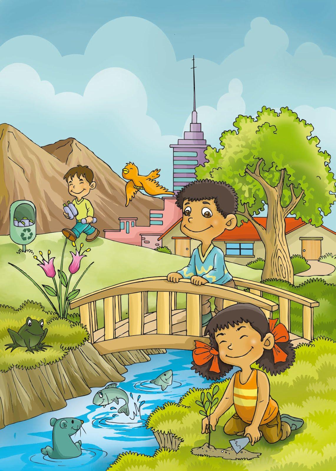 Ilustraciones Caratula de Ciencia y Ambiente