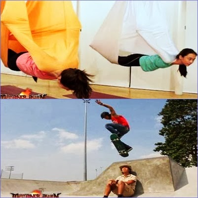 Angel, Shaina, Toni and Bea's Anti-Gravity Yoga Featured in Matanglawin (February 9)