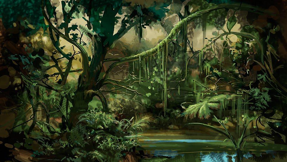 Stungeon Studios: Jungle Background Art