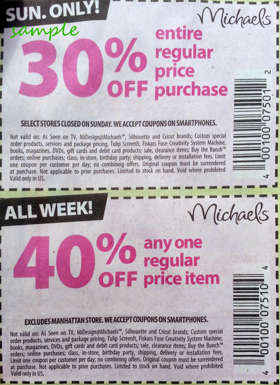 Printable discount coupons