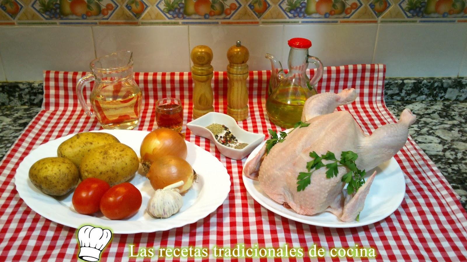 Pollo al horno al estilo de la huerta, receta fácil