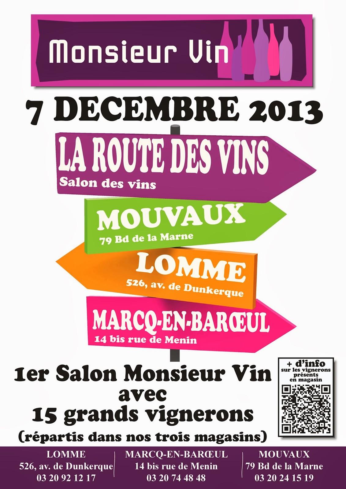 L 39 oeil sur le vin la route des vins samedi 7 d cembre 2013 salon des vignerons de la cave - Salon des vins la verpilliere ...